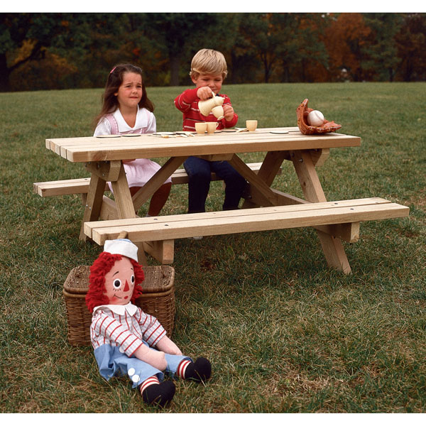 Buy Picnic Table and Benches Woodworking Plan at Woodcraft