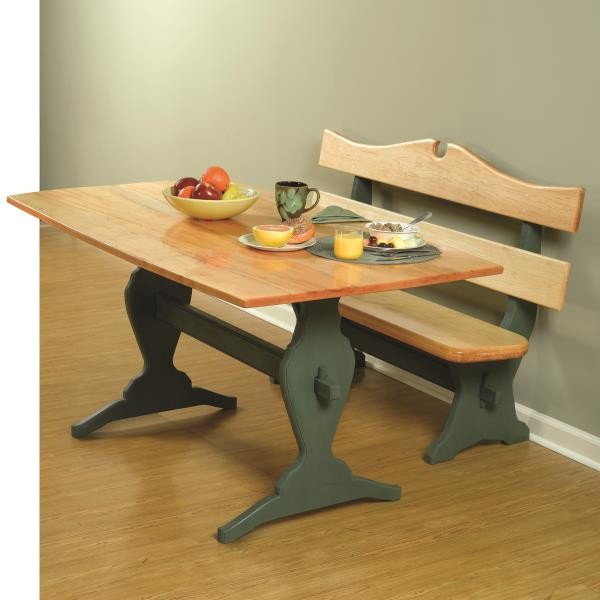 trestle table and bench plans