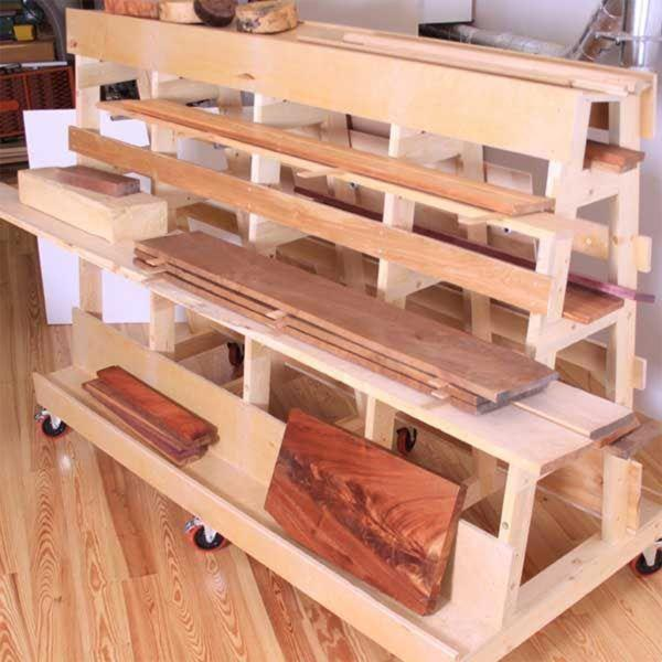 A Frame Lumber Storage Rack Plans