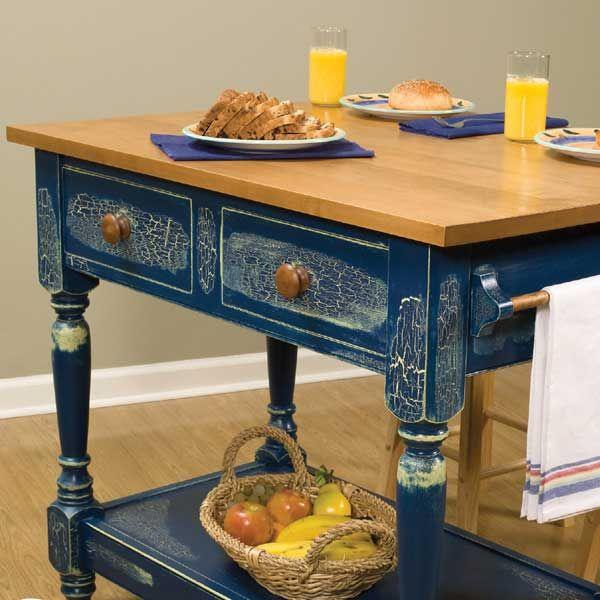 Buy Country Kitchen Work Table - Downloadable Plan at Woodcraft.