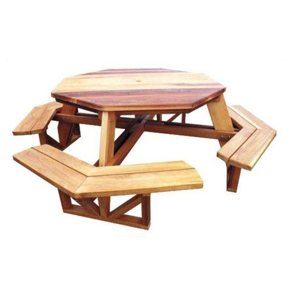 Free Woodworking Plans Hexagon Picnic Table, Free... - Amazing Wood ...