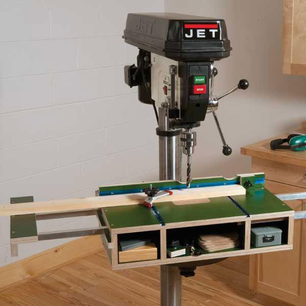 drill press table plans woodworking