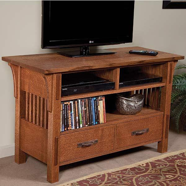arts and crafts tv stand plans