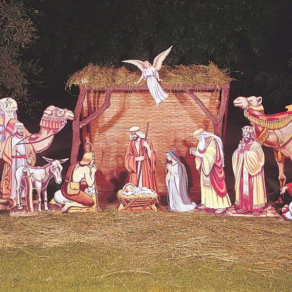 outdoor nativity scene plans