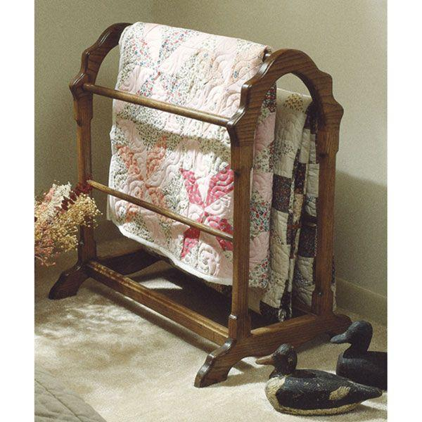 Free Wood Quilt Rack Plans