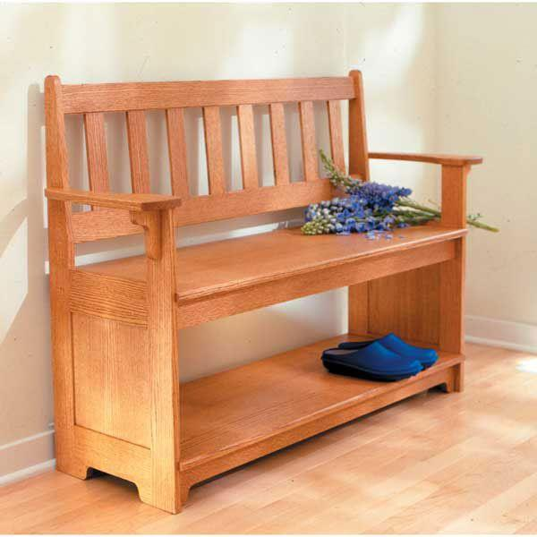 woodworking hall bench plans
