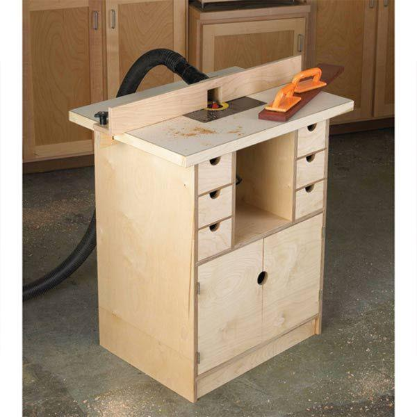 cabinet making router table