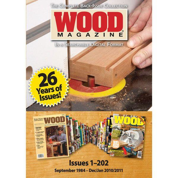 Wood magazine collection on dvd rom
