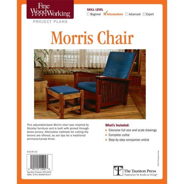 Morris chair plans fine woodworking tools