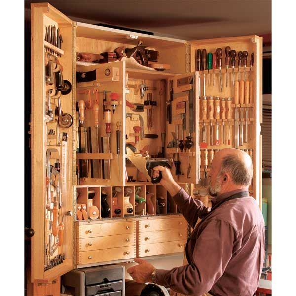 fine woodworking tool cabinet plans