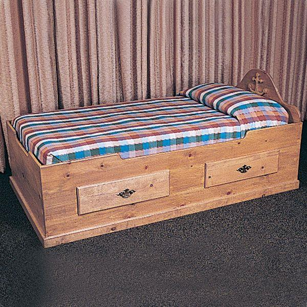 Buy Woodworking Project Paper Plan to Build Captain's Bed, Plan No ...