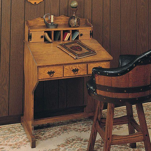 captain desk woodworking plans