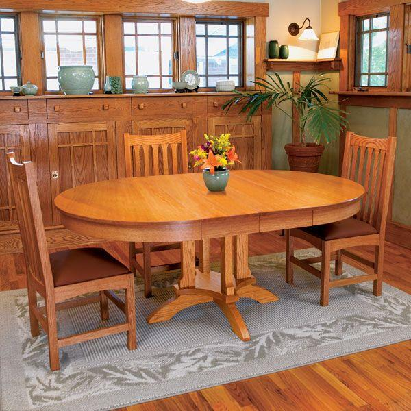 Buy Woodworking Project Paper Plan to Build Arts & Craft Dining