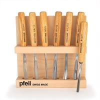 pfeil Swiss made Intermediate Size Carving Tool Set 7 piece