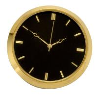 Brass Fit-Up Modern Numbers Black Dial 50mm