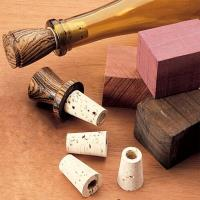 Woodturning Project Kit for Cork Bottle Stoppers 10-Piece