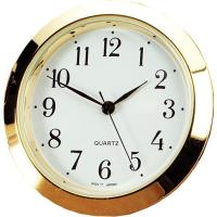 White Dial Arabic Numbers Brass Bezel