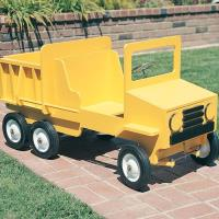 Woodworking Project Paper Plan to Build Dump Truck Pedal Car
