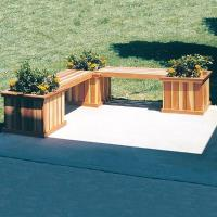 Woodworking Project Paper Plan to Build Planter Bench