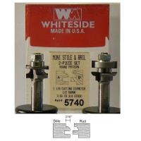 Whiteside 5740 Round Miniature Stile And Rail Router Bit Set 1/2