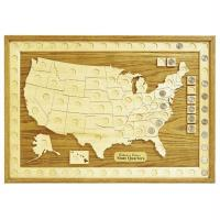 Woodworking Project Paper Plan to Build U.S. State Quarter Collection