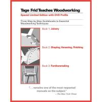 Tage Frid Teaches Woodworking Books 1 2 3 and Bonus DVD
