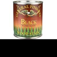General Finishes Wood Stain Water Based Black Stain Quart