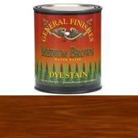 General Finishes Water Based Dye Medium Brown Pint