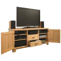 Woodworking Project Paper Plan to Build Flat Panel TV Entertainment Ce