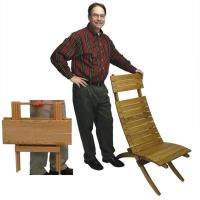 Woodworking Project Paper Plan to Build Cross-Brace Chair and Folding