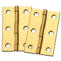 Stanley Solid Brass Miniature Medium Hinge 2-1/2