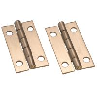 Stanley Solid Brass Ab Miniature Narrow Hinge 1-1/2
