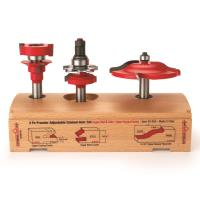 Freud 97-254 Adjustable Rail And Stile 3-Pc Door Router Bit Set Ogee P