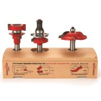 Freud 97-276 Adjustable Rail And Stile 3-Pc Door Router Bit Set Ogee P
