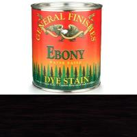 General Finishes Water Based Dye Ebony Quart