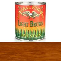General Finishes Water Based Dye Light Brown Quart