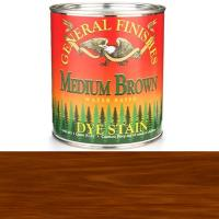 General Finishes Water Based Dye Medium Brown Quart