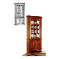 Woodworking Project Paper Plan to Build Colonial Corner Cabinet