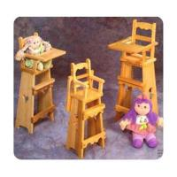 Woodworking Project Paper Plan to Build 3 Doll High Chair