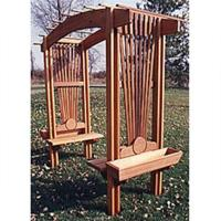 Woodworking Project Paper Plan to Build Sunburst Arbor