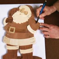 Intarsia Santa - Downloadable Plan