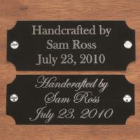 Large Laser Engravable Name Plate Black with Silver Lettering