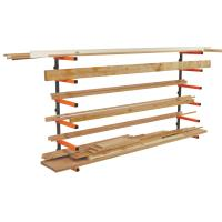 Portamate 6 Shelf Wood Rack