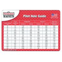 ToolMAG Magnetic Pilot Hole Chart