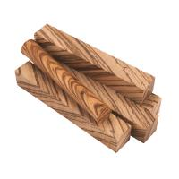 Diagonal Cut Zebrawood Pen Blank 5-Piece