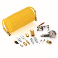 FREEMAN 1/4-Inch 16-Piece Pneumatic Coil Hose Accessory Pack