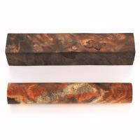 Buckeye Burl Stabilized Double Dyed Pen Blank Orange/Black 1-piece