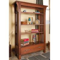 Arts and Craft Bookcase - Downloadable Plan