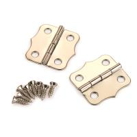 Small Box Nickel Plated Hinge 24mm x 24mm pair