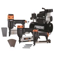 Freeman 3-Piece Nailer/Stapler Kit with 3-Gallon Compressor